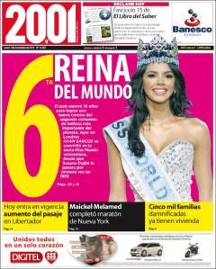 Ivian Sarcos se convirtió en la sexta Miss Mundo venezolana