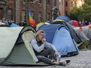 Acampamento de indignados em Wall Street