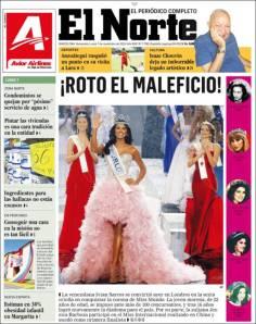 Venezuela festeja la criolla, la joven morena, de 22 años
