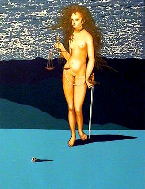 Deusa da Justiça, por Dalí