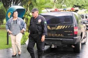 Márcia, no dia em que foi presa pela Polícia Federal: servidora ficou duas semanas na cadeia