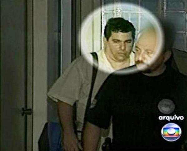 Rogério Figueiredo Vieira, em uma de suas detenções com salvadores  habeas corpus relâmpago