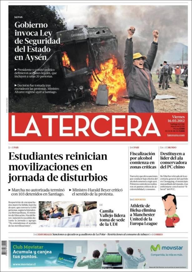 103 estudantes detidos em Santiago