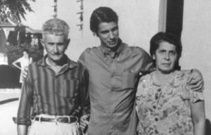 Cilon Brum com seus pais, Lino e Eloah (Lóia)