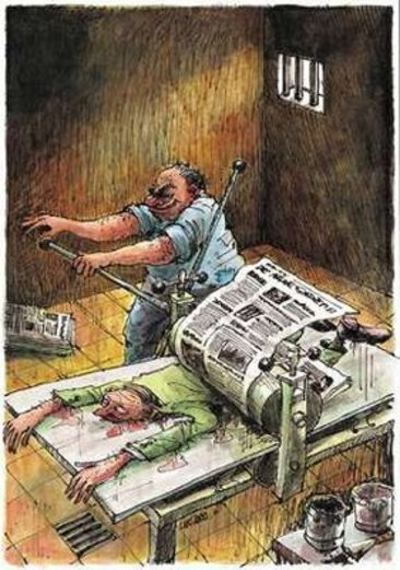 Resultado de imagem para proibido a jornalistas charge