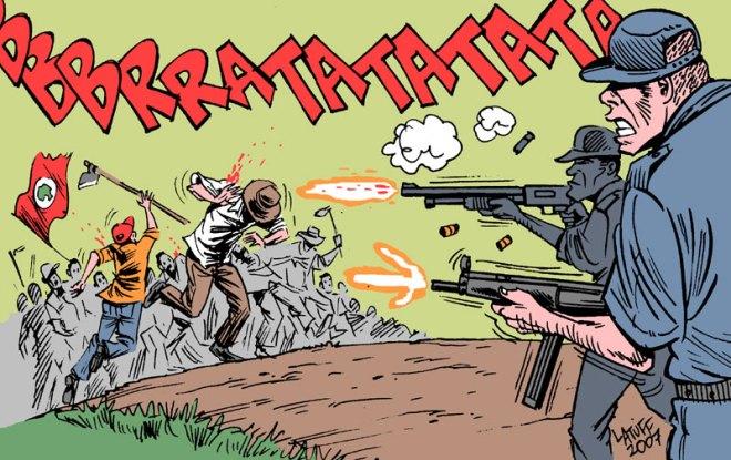 O massacre virou história em quadrinhos, literatura de cordel, romance, poesia, teses cadêmicas, livros de sociologia, história e política