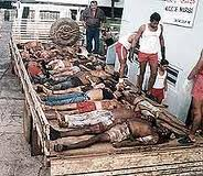 Os cadáveres transportados de Eldorado dos Carajás, antigo distrito de Curionópolis