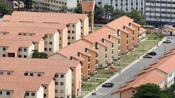 Conjunto habitacional padrão do Programa Minha Casa Minha Vida