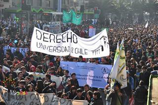 Estudante no Chile faz assim