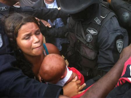A polícia herodiana em ação hoje em Belo Horizonte