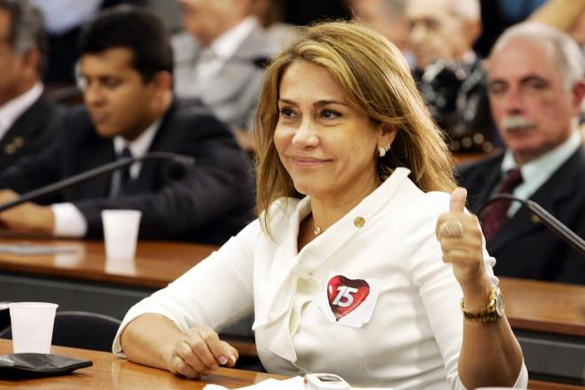 Maria Lúcia, quando deputada no Congresso Nacional