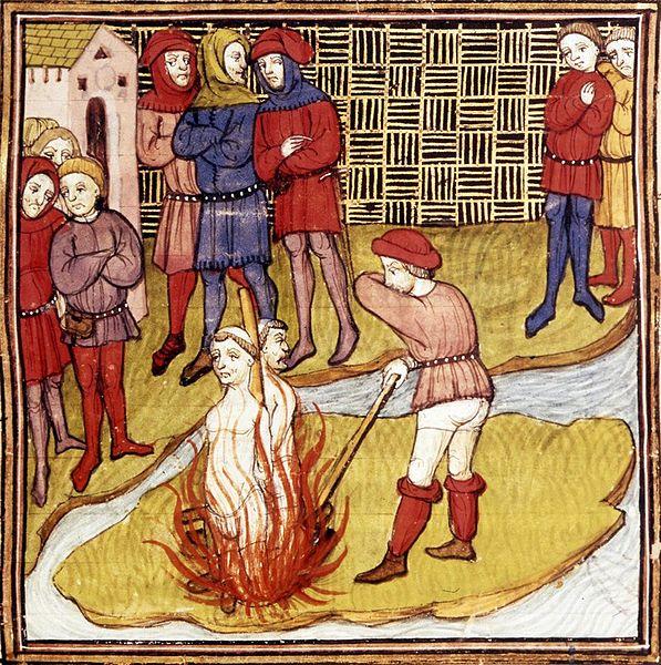 Filipe, o Belo, para se apoderar dos bens da Ordem, acusando-a de ter se corrompido, encarcerou os superiores dos Templários e, depois de um processo iníquo, os fez queimar vivos