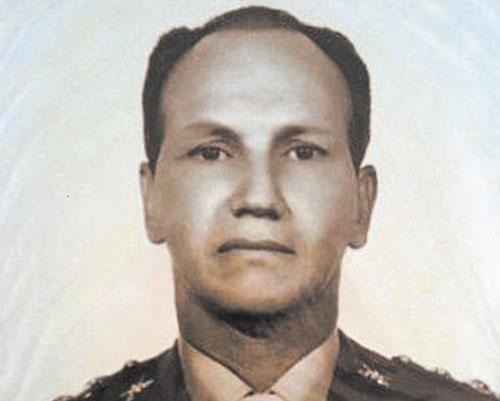 Tenente-coronel Maurício Lopes Lima, retrato da época que sequestrava e torturava, para reconhecimento das vítimas