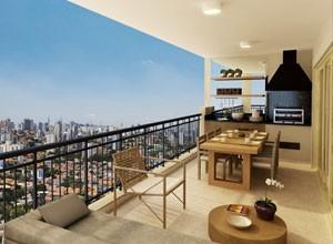 Apartamento custa R$ 2,94 milhões. Foto do terraço
