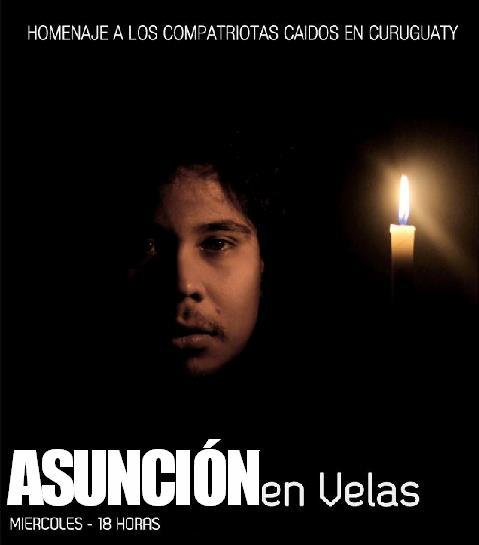 Os camponeses que morreram na fazenda do latifundiário iluminem os caminhos do Paraguai. Pela liberdade. Basta de golpe. Ditadura nunca mais!