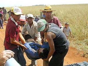 Camponês baleado na chacina armada por Riquelme