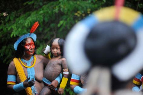 Rio + 20. Representantes de 20 etnias estão concentrados na Aldeia Kari-Oca