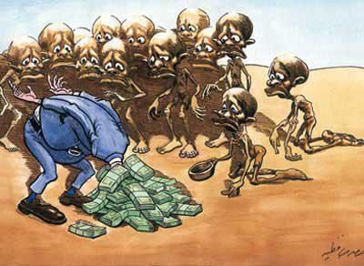 bancos capitalismo fome