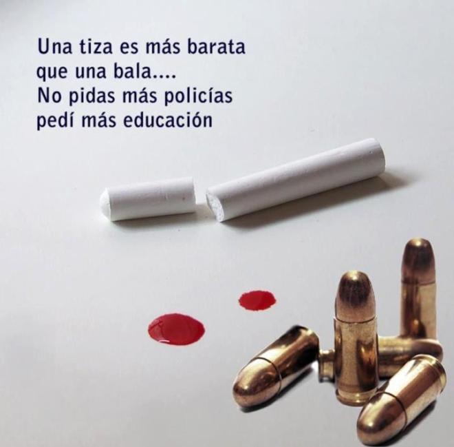 Da campanha estudandil dos estudantes Paraguai, indignados com as lei de Lugo de tolerância zero, e acordo com a polícia da Colômbia