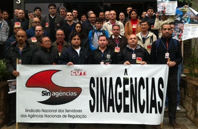 Foto da corte grevista em São Paulo