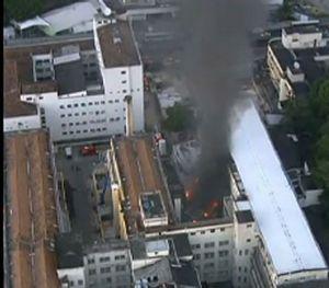 Incêndio no almoxarifado do hospital