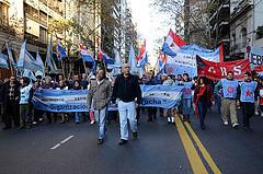 Fotos de marchas contra o golpe