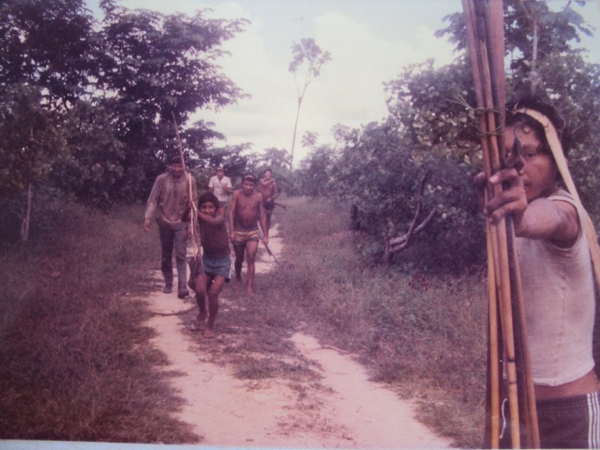 Waimiri Atroari na BR174, em1985 (Foto de Egydio Schwade)