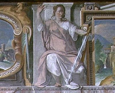 Deusa da Justiça, afresco Vaticano