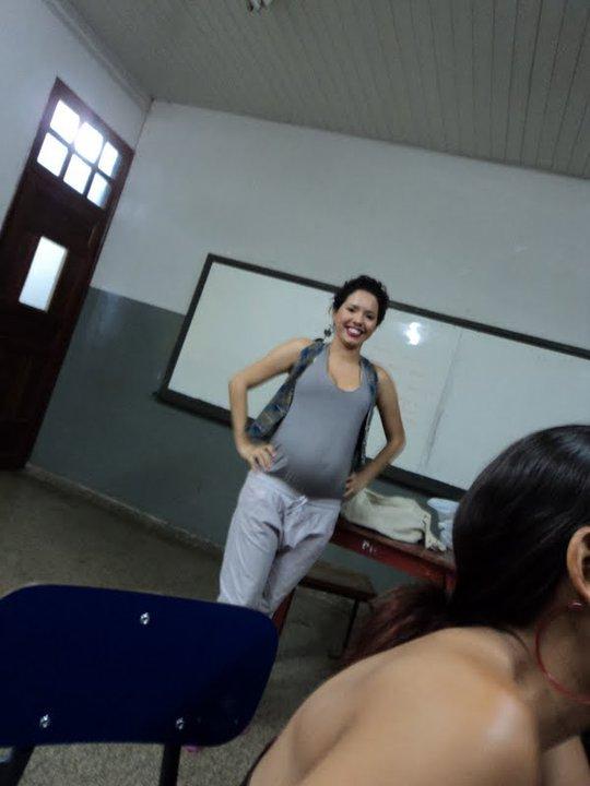 Uiliene Araújo Santa Rosa na sala de aula