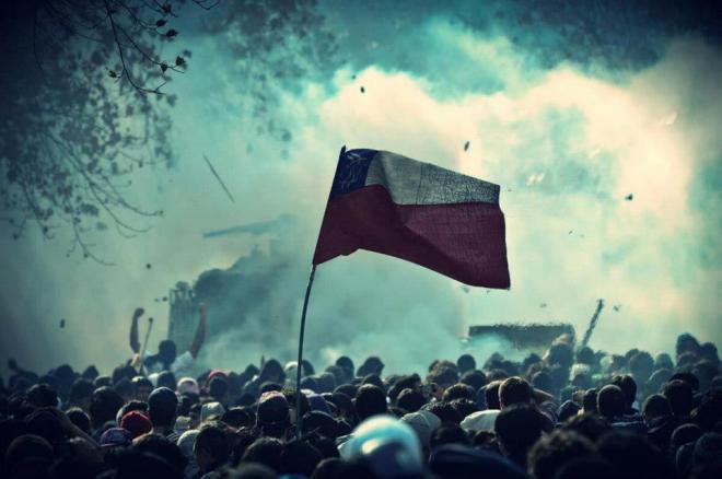 Chile. Marcha estudantil