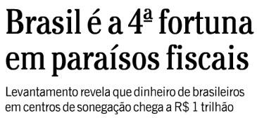 Reprodução de capa do Globo