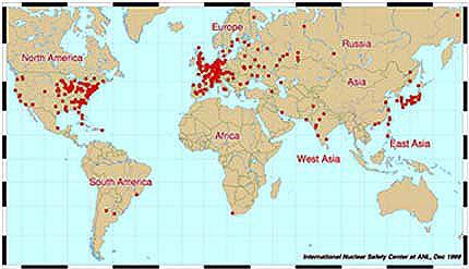 Uso da energia nuclear no mundo indica riqueza