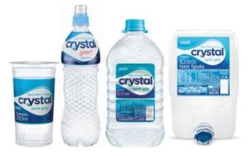empresa água Crystal