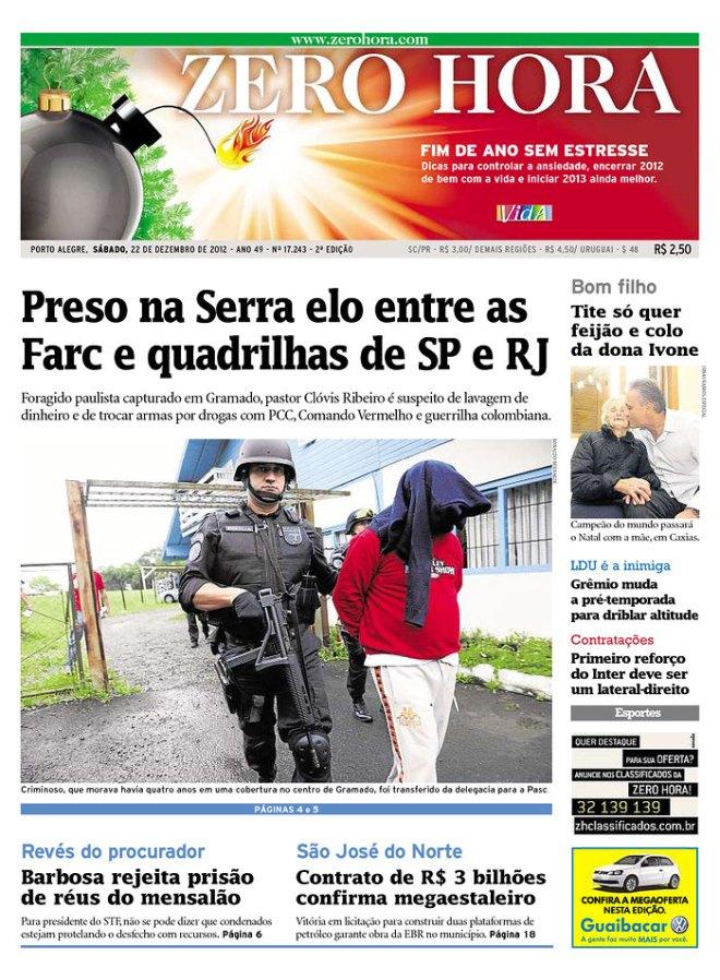 BRA_ZH Farc propaganda marrom