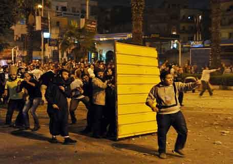 Egito, povo nas ruas