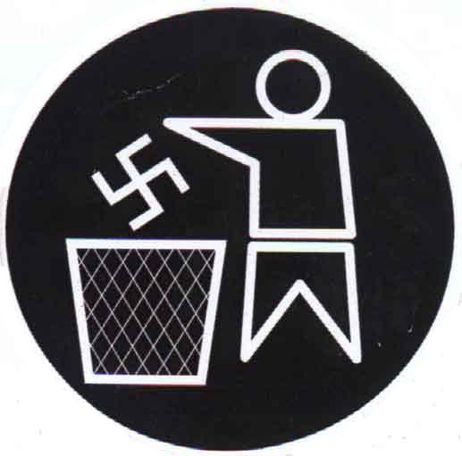 indignados nazismo lixo