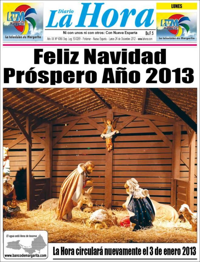 la_hora. venezuela lapinha feliz natal