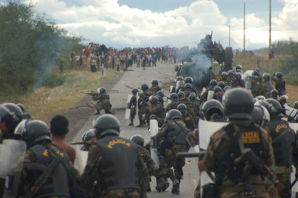 Carajás, marcha interrompida pela polícia e capangas de fazendeiros