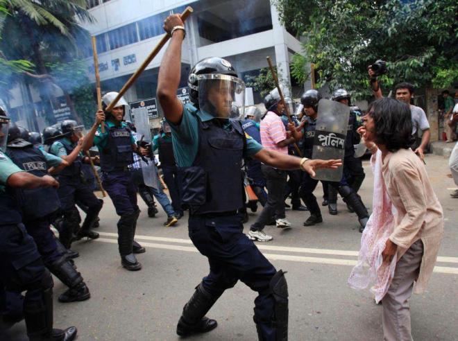 México polícia estudantes indignados