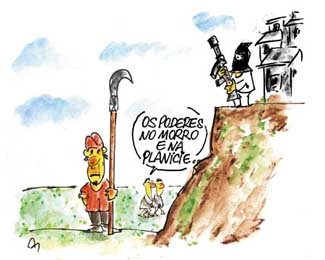 Propaganda da imprensa mafiosa e direitista: os favelados e sem-terras são terroristas