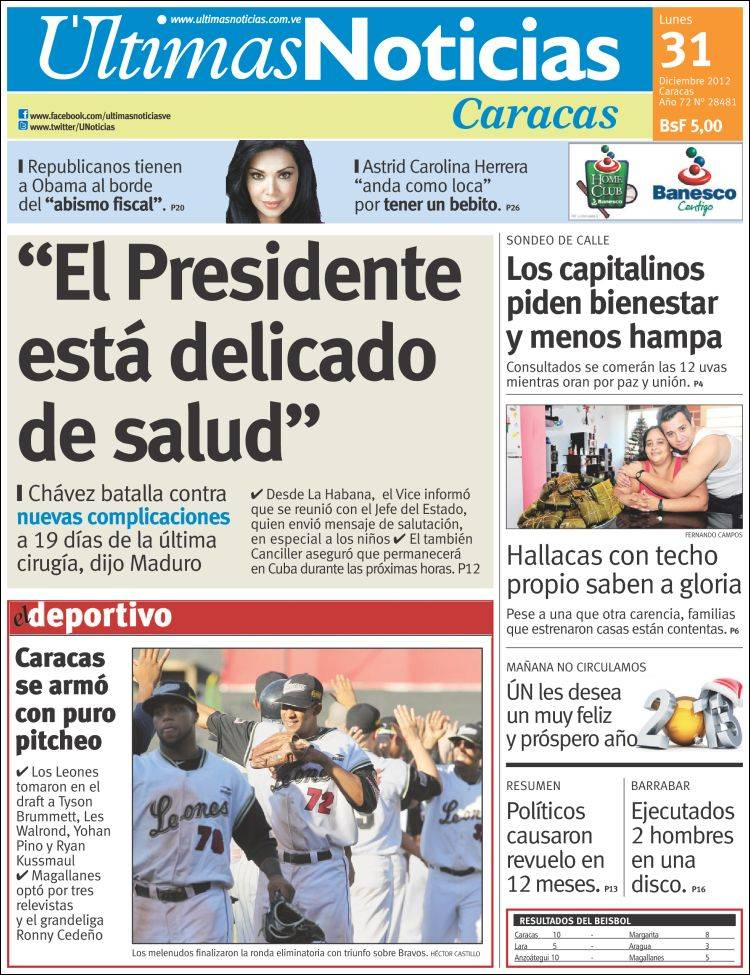 Capriles come ou campanha apostando na morte de ch vez for Una noticia de espectaculos