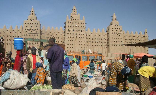 Antiga cidade de Djenné, declarada Patrimônio da Humanidade pela Unesco