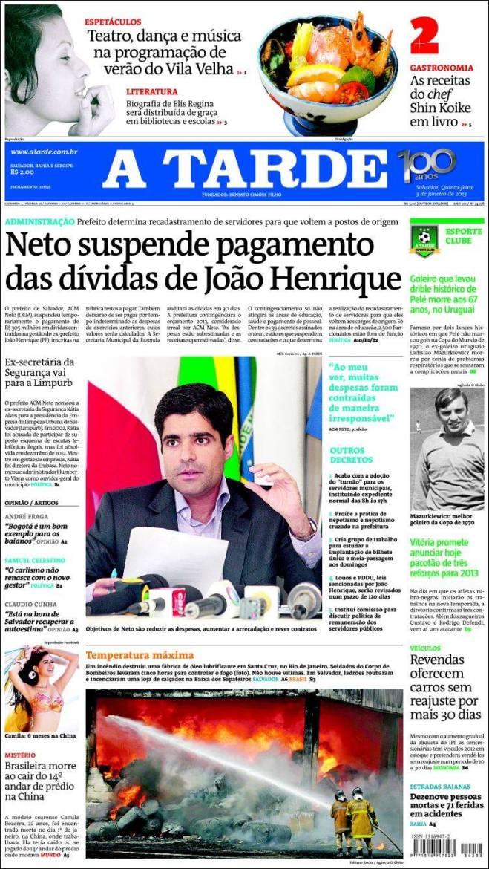 br_atarde. dívidas de João Henrique