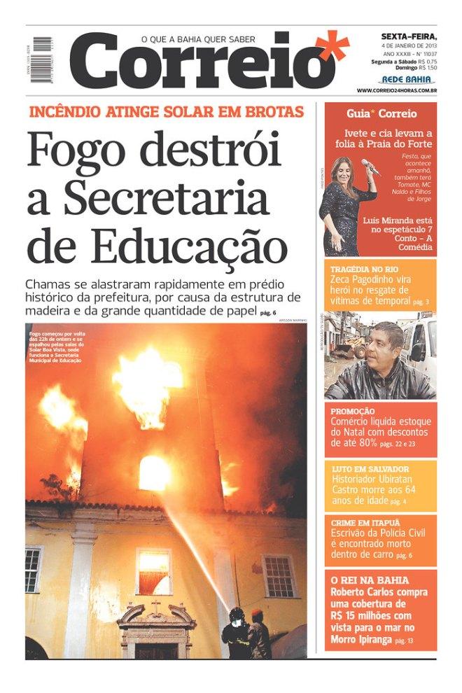 BRA^BA_ fogo destrói prédio da prefeitura