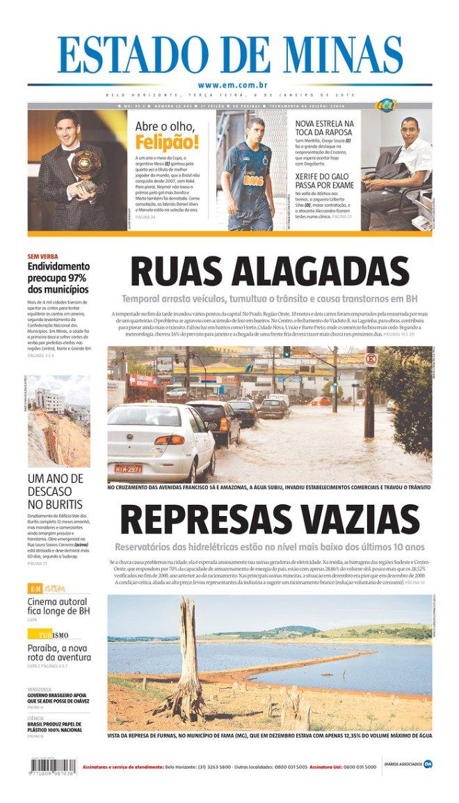 BRA^MG_EDM RUAS ALAGADAS REPRESAS VAZIAS