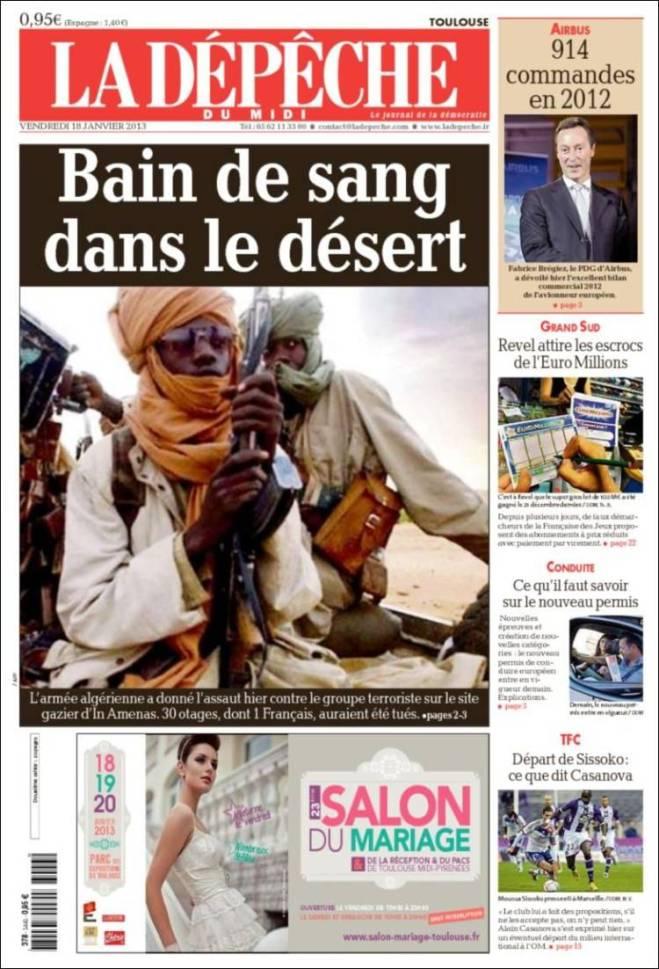 depeche. Mali Argélia banho sangue deserto