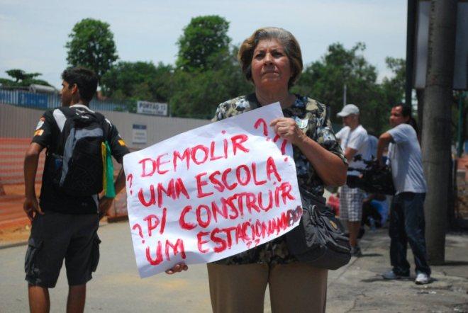 Manifestação das ruas e avenidas