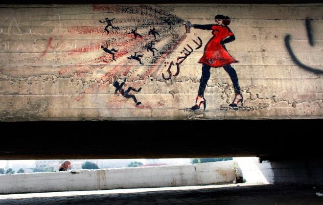 Mideast Egypt Revolutionary Graffiti   CAI510