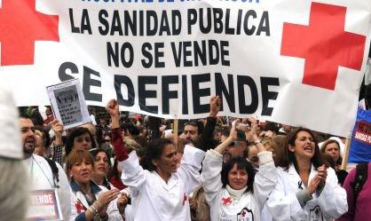 greve médicos Espanha saúde hospital privatização