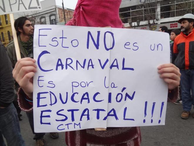 Passeata estudantil no México